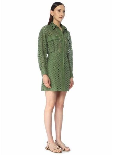Sandro Sandro  Trasnparanlı Mini Elbise 101496545 Haki
